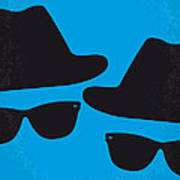 No012 My Blues Brother Minimal Movie Poster Print by Chungkong Art