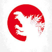 No029-2 My Godzilla 1954 Minimal Movie Poster.jpg Art Print