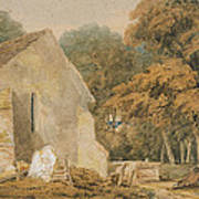 No.0735 A Country Churchyard, C.1797-98 Art Print