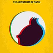 No096 My Tintin-3d Minimal Movie Poster Print by Chungkong Art