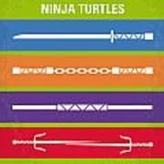 No346 My Teenage Mutant Ninja Turtles Minimal Movie Poster Art Print