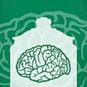 No390 My The Man With Two Brains Minimal Movie Poster Art Print