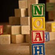 Noah - Alphabet Blocks Art Print