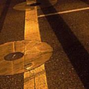Nocturnal Street Shadows Art Print