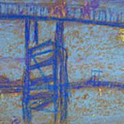 Nocturne. Battersea Bridge Art Print