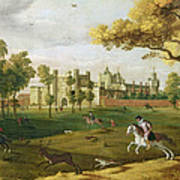 Nonsuch Palace In The Time Of King Art Print