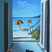 Noon At The Beach Art Print