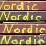 Nordic Rusty Steel Art Print