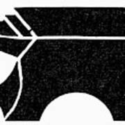 Nordic Symbol Anvil Art Print