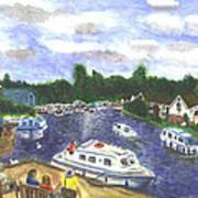 Norfolk Broads Art Print