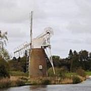 Norfolk Windmill Art Print