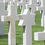 Normandy American Cemetery Art Print