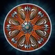 Norse Aegishjalmur Shield Print by Richard Barnes