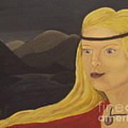 Norse Goddess Freya Print by Megan Cockrell