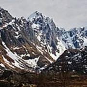 Norse Spring Mountains Art Print