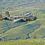 North American B-25g Mitchell Bomber Art Print