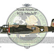North American B-25j Mitchell Art Print by Arthur Eggers