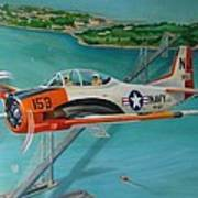 North American T-28 Trainer Art Print