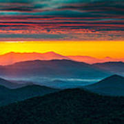 North Carolina Blue Ridge Parkway Morning Majesty Art Print