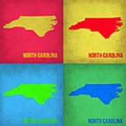 North Carolina Pop Art Map 1 Art Print