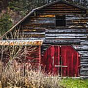 North Carolina Red Door Barn Art Print