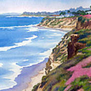 North County Coastline Revisited Art Print by Mary Helmreich