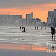 North Myrtle Beach At Sunset Art Print
