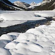 North Saskatchewan River In Winter Art Print