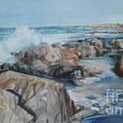 North Shore Surf Art Print
