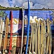 North Shore Surf Shop Art Print
