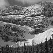 1m3536-bw-north Side Crowfoot Mountain  Art Print