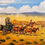 North To Abilene Art Print