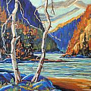 North West Lake By Prankearts Art Print