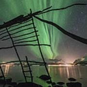 Northern Lights Rays Art Print