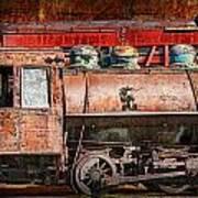 Northern Pacific Vintage Locomotive Train Engine Art Print