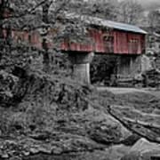 Northfield Falls Bridge Art Print