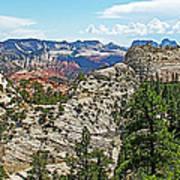 Northgate Peaks Trail From Kolob Terrace Road In Zion National Park-utah Art Print