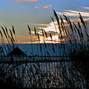 Ocean City Sunset At Northside Park Art Print