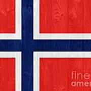 Norway Flag Art Print