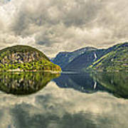 Norway Serenity In Panorama Art Print