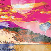 Space Landscape Art Print