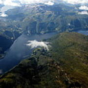 Norwegian Fjord From On High Art Print