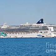 Norwegian Jade Cruise Ship Corfu Art Print
