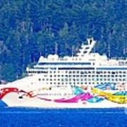 Norwegian Jewel Cruise Ship Art Print