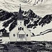 Norwegian Lutheran Church Grytviken Art Print