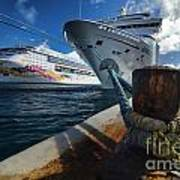 Norwegian Sky Carnival Sensation And Royal Caribbean Majesty Art Print