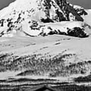 Norwegian Winter Mountain Cabin Art Print