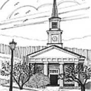 Norwich University White Chapel Art Print