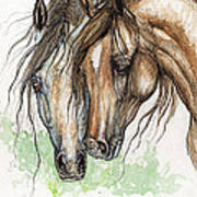 Nose To Nose Watercolor Painting Art Print