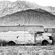 Not In Service Bw Palm Springs Art Print